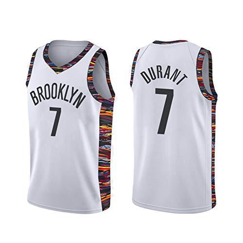 Camiseta De Baloncesto para Adultos, Nets 7# Kevin Durant, 11# Uniforme De Entrenamiento De Chaleco De Baloncesto Kyrie Irving, Textura Suave, De Secado Rápido Y T Style C-XL
