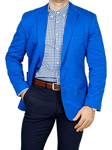 bonprix Herren Sakko untersetzt Comfort Fit Baumwoll Übergröße Blazer Zweiknopf Jackett Anzug Langgröße bequem Spezialgröße, Größe 27, lichtblau