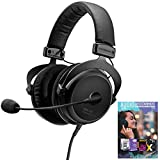 beyerdynamic 718300 MMX 300 PC Gaming Digital Headset with Microphone 2nd Generation 32 Ohms Bundle with Tech Smart USA Audio Entertainment Essentials Bundle 2020