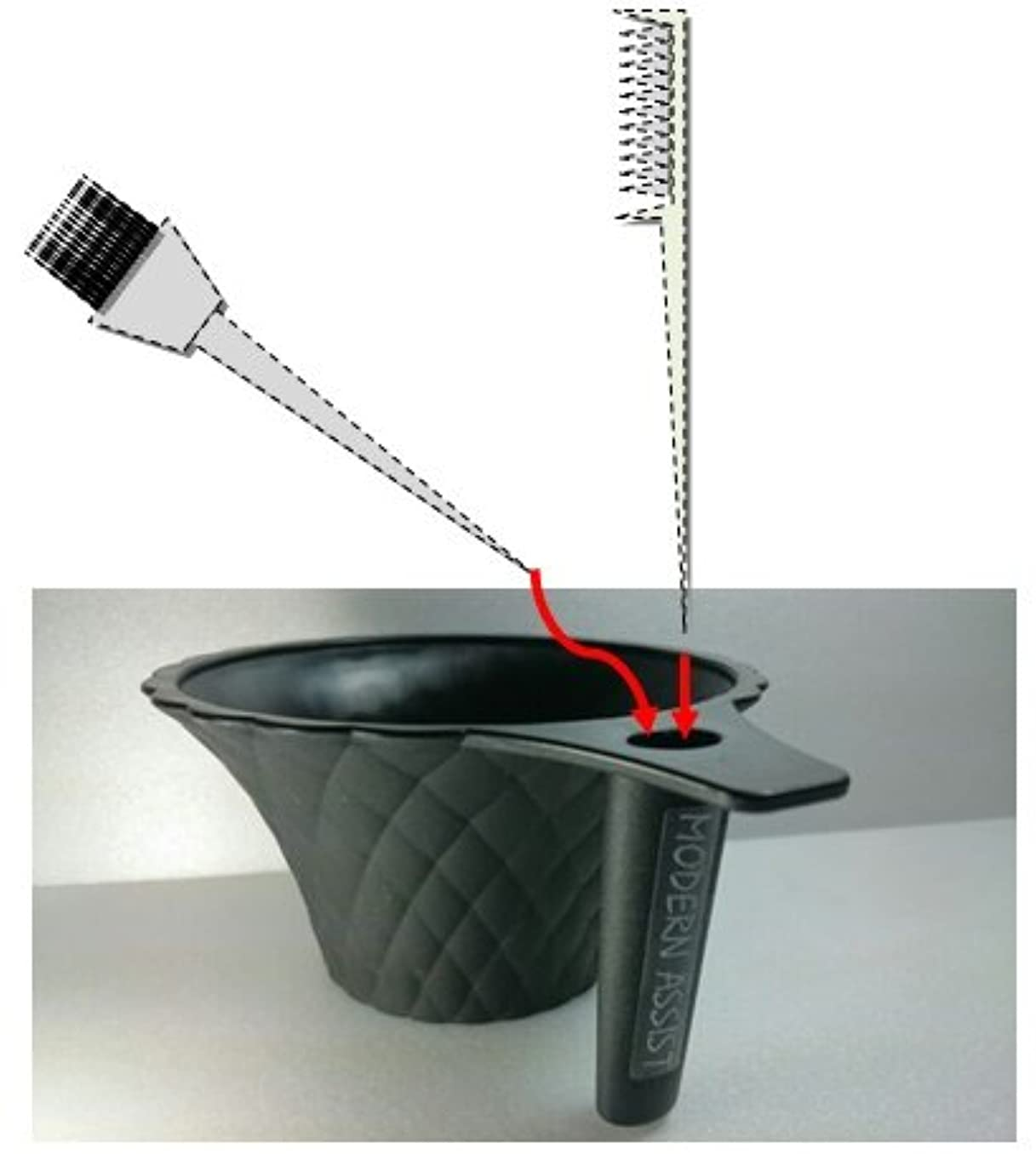 略語地平線彫る【ヘアダイカップ】 美容師用 カラーリングブラシが収納できる新機能ヘアカラーカップ 白髪染め おしゃれ染め