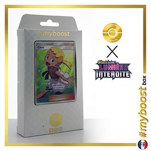 Clem 128/131 Dresseur Full Art - #myboost X Soleil & Lune 6 Lumière Interdite - Coffret de 10 Cartes Pokémon Françaises