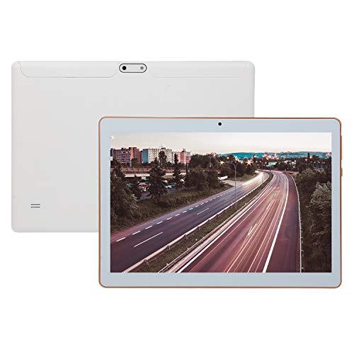 Lopbinte Tableta de 10.1 Pulgadas Android 4.4, Quad Core IPS 2 + 32GB Tarjeta Dual Llamada 3G CáMaras Duales Tableta, Blanco (Enchufe de la EU)