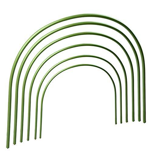 LouisaYork Lot de 6 arceaux de serre, tunnel de culture de 40 x 50 cm, cadre de support de jardin avec arceaux revêtus de plastique pour serre de jardin, protection et croissance