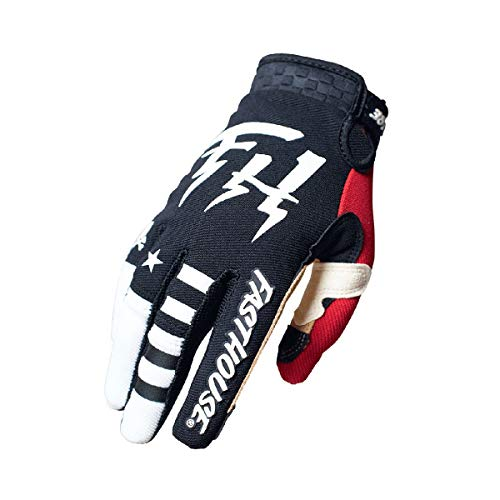Fasthouse Speed Style Bereman - Guantes infantiles (talla S), color negro y blanco