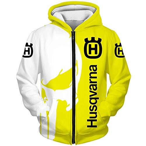 Kaprise sledge Hoodies,Chaquetas,Camiseta Hus_Qv-Ar_Na Punisher 3D Completo Impresión Delgado Hombre Y Mujer Casual Poliéster Sweatshirt Suelto / B1 / XS