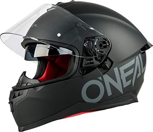 O'NEAL | Motorrad-Helm | Enduro Adventure Street | Sicherheitsnormen DOT und ECE 22.05, ABS-Schale, integrierte Sonnenblende | Challenger Helmet Flat | Erwachsene | Schwarz | Größe S