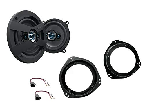 NIQ Opel Corsa B (S93) Lautsprecher Einbauset (Türe Front) inkl. Scosche HD5254 130mm 3 Wege Triaxial Lautsprecher 200Watt