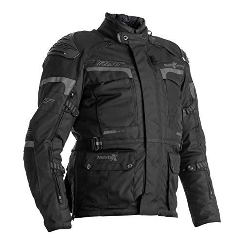 RST Pro Serie Adventure-X Airbag CE Herren schwarze Textil Motorradjacke EU54