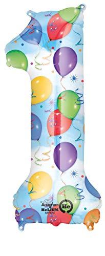 amscan Folienballon Zahl 1 Balloon Party