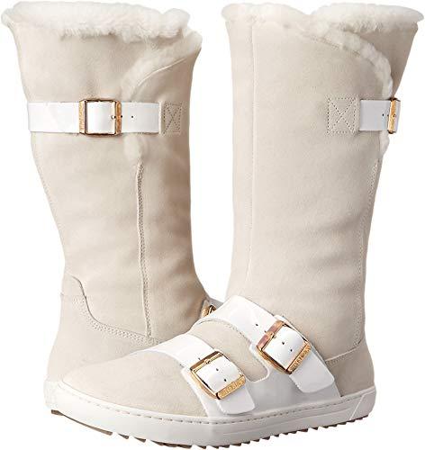 Birkenstock - Danbury Shearling-Futter Damen , Weiá (White Suede/Patent Leather), 38 M EU