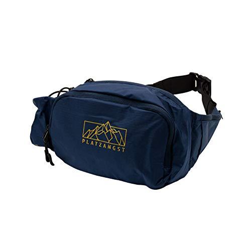 Platzangst Hipbag Bauchtasche für Damen und Herren Gürteltasche Blau Hüfttasche Outdoor Fahrrad MTB DH Freeride Gravel