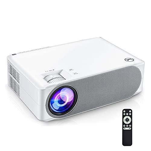 Proyector, Proyector Wifi 1080p HD Performance 30mq Proyector Proyector LED de 300'± 45 ° Keystone electrónico Compatible con TV
