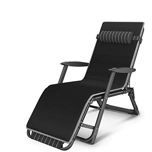 JMSL Silla reclinable-Sillón portátil Plegable-Silla para Exteriores-Tumbona-Silla Patio Ajustable-Silla jardín-Tumbona con Almohada para el Cuello 10 velocidades,B2