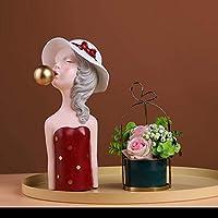 建物の付属品彫刻彫像装飾品置物収集可能な置物バブルガール像アート彫刻樹脂工芸品家の装飾