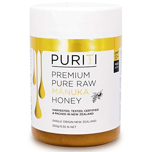 PURITI Manuka-Honig MGO 400+ 250g aus Neuseeland - zertifiziert, laborgeprüft, reines Naturprodukt, frei von Zusatzstoffen, Premium Qualität