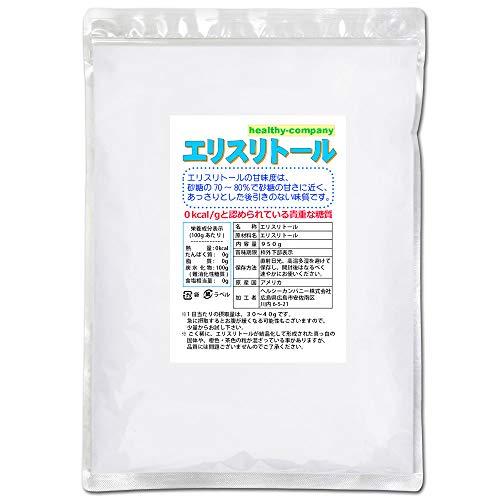 エリスリトール(erythritol) 950g【ヘルシーカンパニー】「1kgから変更」