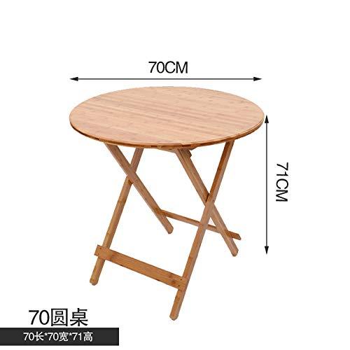 DX klaptafel eenvoudige vierkante tafel bamboe huis vrije tijd tafel volledig gezicht 70 vouwen ronde tafel
