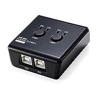 イーサプライ USB切替器 手動 PC2台用 USB機器2台 USB2.0 プリンタ 外付けHDD キーボード&マウス対応 EZ4-SW022