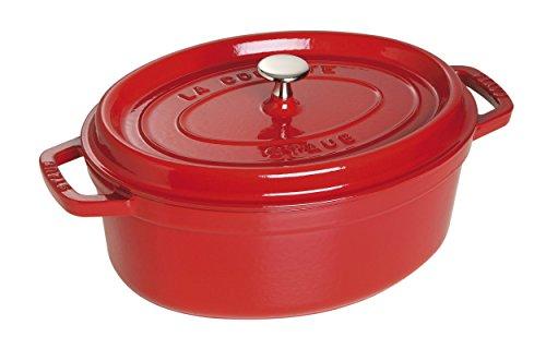 STAUB Cocotte en Fonte, Ovale 31 cm, 5,5 L, Rouge Cerise