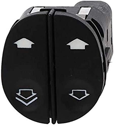 Interruptor de control de elevalunas eléctrico con botón regulador eléctrico/ajuste para Ford/Fit para Fiesta/Fit para Fusion/Fit para Puma (negro)