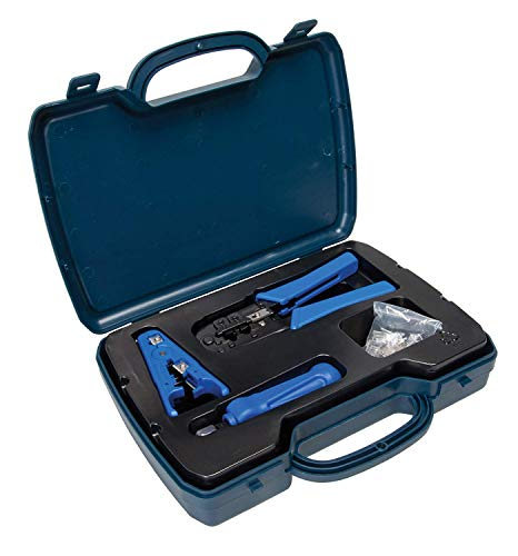 DataShark PA70007 Ethernet Network Tool Kit  Includes RJ45/RJ11 Crimp Tool Cable Stripper Punch Down Tool RJ45 Connectors  CAT5 CAT5E CAT6