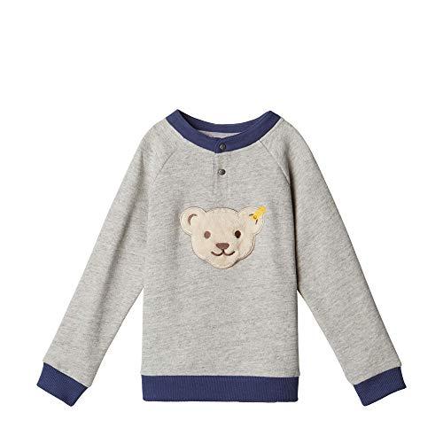 Steiff Baby - Jungen Sweatshirt , Grau (QUARRY 9007) , 86 (Herstellergröße:86)