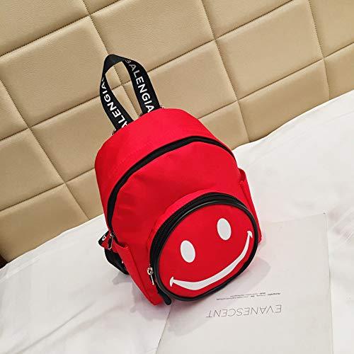 Neue Kinder Leinwand Umhängetasche Korean Fashion Print Kinder Rucksack Niedlichen Cartoon Lächeln Kindergartentasche 3 13 * 18 * 22 * 9Cm