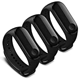 AWINNER Bands Compatible with Xiaomi Mi Band 4 Smartwatch Wristbands Replacement Band Accessaries Straps Bracelets for Mi4 (3 Black)