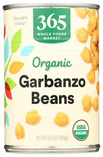 365 by Whole Foods Market, Organic Shelf-Stable Beans, Garbanzo, 15.5 Ounce