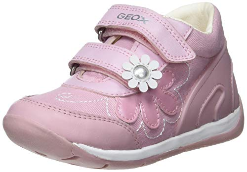 Geox Baby Each Girl, Zapatillas Bebés, Rosa Pink/White