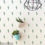 Cactus Estampado Estarcido Decoración Hogar Tropical Pared Estarcido Pintura Papel Pintado Estampado en Paredes y También Personalizado Tela & Muebles Reutilizable Opciones Tamaño - Small / 17x26cm
