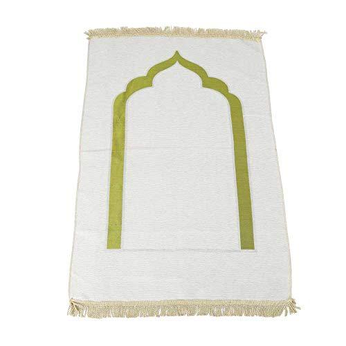 HERCHR Muslimischer Gebetsteppich, türkischer Teppich Islamische Matte für muslimische Gebete Tragbare Gebetsteppiche für Ramadan-Geschenke, 43,3 x 27,6 Zoll