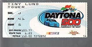 Daytona 500 NASCAR Ticket Stub 2/16/1997-Daytona Int'l Speedway-Jeff Gordon-FN