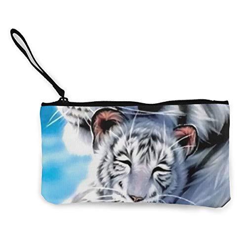 FIRS Geldbörse/Geldbörse/Geldbörse mit Reißverschluss, Motiv Weißer Tiger Affection