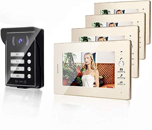 Kit Videocitofono, 7' Cablata Video Door Phone LCD Citofono, Kit Video Campanello per Visione Notturna, Citofono Videocitofono (4)