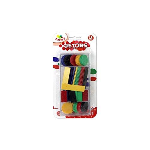 les colis noirs lcn Boîte de 100 Jeton coloré en Plastique - Jeux Cartes Tarot Nain Jaune - 752