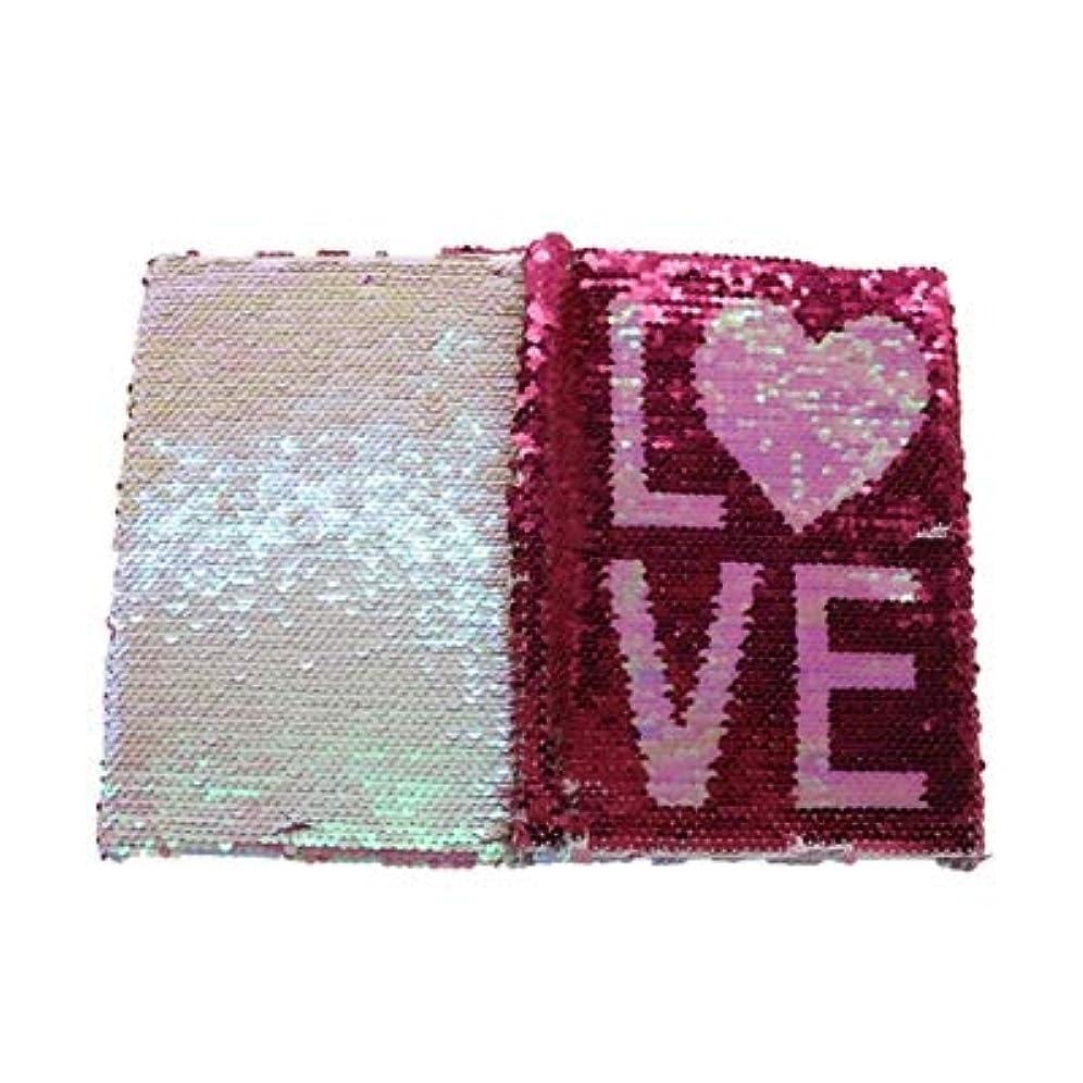 寄生虫不純トレッドWTYD オフィス用品 クリエイティブ愛両面スパンコールノートブック毎日のメモ帳絶妙なオフィス文具学生ギフト オフィススクールに使用 (色 : Love)