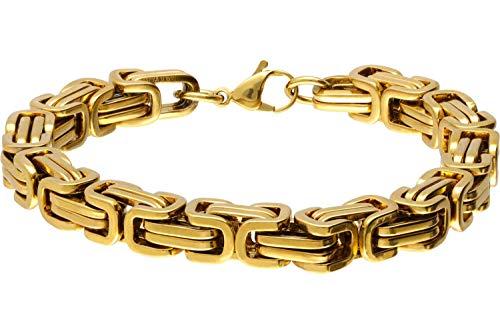 FILANGO Edelstahl Königsarmband | goldfarben | Karabinerverschluss | Mode Schmuck Armband