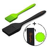 MangoPlus Silicone Basting Brush for Grilling - Silicone Brush Set - Sauce Brushes - Heat Resistant...