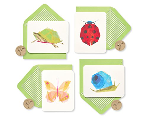 Papyrus Blank Cards with Keepsake Box, Garden Critters (20-Count)
