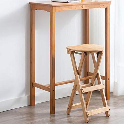 WZYX Barhocker Tresenhocker Klappbar HöHe Barhocker Massivholz Tresenhocker Küchenstühle Fußstütze Barstuhl Für Bartisch Pub Küche