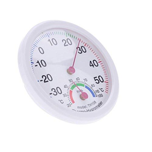 Gazechimp Runde Mini innen Analoge Temperatur Luftfeuchtigkeit Hygrometer Meter Thermometer