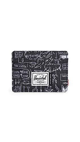 Herschel Supply Co. X Basquiat Charlie - Tarjetero para hombre - Negro - talla única
