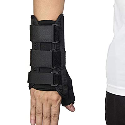 Wrist Brace with Thumb Spica Splint Wrist Support Thumb Spica Thumb Support for Arthritis, Sprains, Carpal Tunnel Pain, Tendonitis (Right,L)