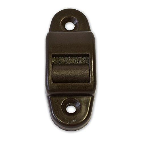 Gurtführung in braun (Mini-Ausführung - bis 14mm Gurtbreite) mit Bürste