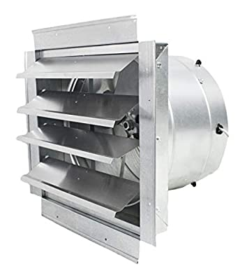 MaxxAir Powerful Industrial Exhaust Fan, Wall-Mounted