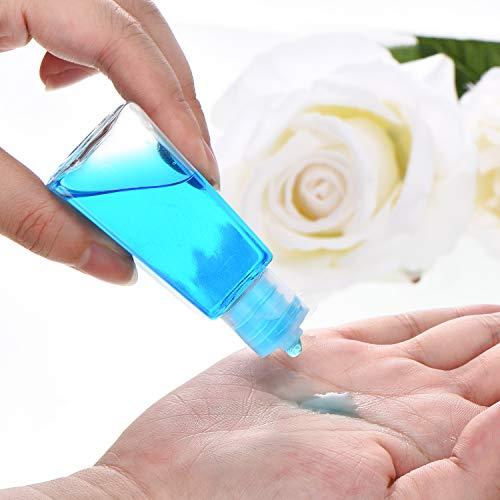 24 Stücke Leere Flaschen mit Flip Cap Behälter in Reisegröße Leere Plastikflasche 1 oz/ 30 ml mit 2 Stücken Transfertrichtern für Flüssigkeiten, Lotionen, Cremes, Shampoo und Toilettenartikel