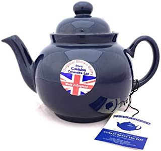 Hand Made Brown Betty 4 Cup Teapot in Cobalt Blue (