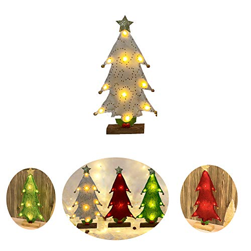 1pc Mini DIY Christmas Tree Fake Pine Tree Christmas Desktop Decor Santa Snow Frost Village House Christmas Decoration for Home (Gold)