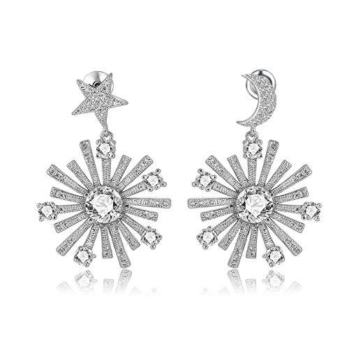 Nieuwe vergulde oorbellen voor vrouwen – Galaxy Fantasy Design – ondergoed en een prachtig cadeau voor jezelf en je vriendin en echtgenote, prachtige geschenkdoos